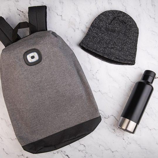 Набор подарочный URNABICON: рюкзак, шапка, бутылка для воды
