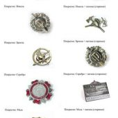 Значки металлические