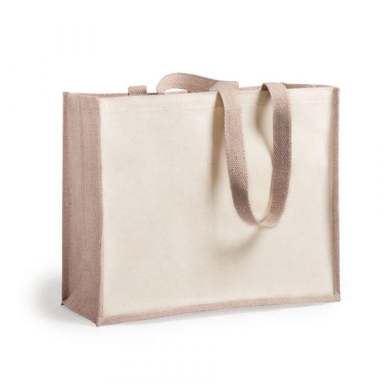 """Сумка для покупок """"Rotin"""", бежевый, 39×31,5×16 см, 70% джут, 30% хлопок"""