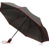 Зонт-полуавтомат складной Motley с цветнами спицами, красный, арт. 021544303