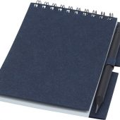 Блокнот Luciano Eco на пружине, с карандашом, маленький, синий (А6), арт. 021674403