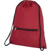 Складной рюкзак со шнурком Hoss, heather dark red, арт. 021642503