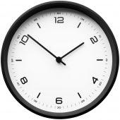 Часы настенные Weis, белые с черным