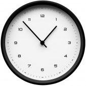 Часы настенные Flash, белые с черным