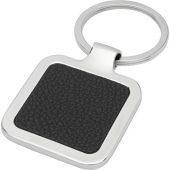 Квадратный брелок Piero с лазерным принтом, изготовленный из искусственной кожи, черный, арт. 021677103