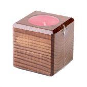 Свеча в декоративном подсвечнике, мокко, вишня, арт. 021865903