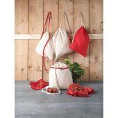 Рюкзак со шнурком Oregon, имеет цветные веревки, изготовлен из хлопка плотностью 100г/м², красный, арт. 021640103