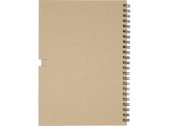 Блокнот Luciano Eco на пружине, с карандашом, средний, натуральный (А5), арт. 021674303