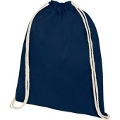 Рюкзак со шнурком Oregon из хлопка плотностью 140г/м², темно-синий, арт. 021634803