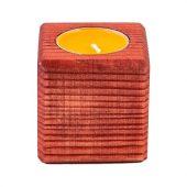 Свеча в декоративном подсвечнике, красн. дерево, апельсин, арт. 021865703