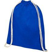 Рюкзак со шнурком Oregon из хлопка плотностью 140г/м², синий, арт. 021635003