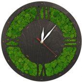 Часы Римские 1 со мхом настенные, цвет черный малахит, QRONA, арт. 021861803