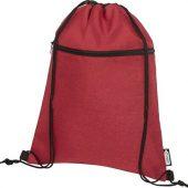 Рюкзак со шнурком Ross из переработанного ПЭТ, heather dark red, арт. 021643503