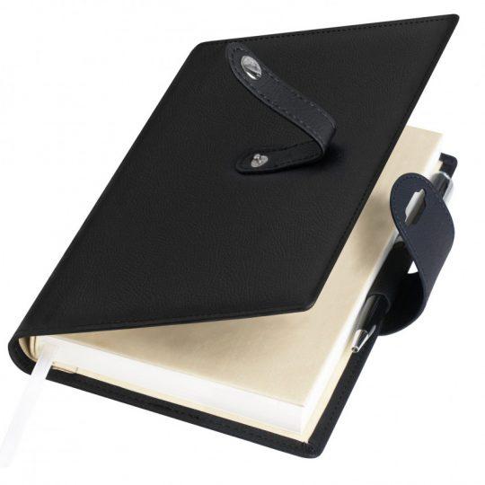 Ежедневник-портфолио Passage, черный, обложка soft touch, недатированный кремовый блок, подарочная коробка