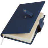 Ежедневник-портфолио Passage, синий, обложка soft touch, недатированный кремовый блок, подарочная