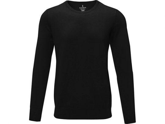 Мужской пуловер Merrit с круглым вырезом, черный (XL), арт. 022286503