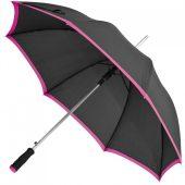 Зонт-трость Highlight, черный с розовым