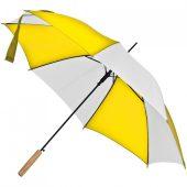 Зонт-трость Milkshake, белый с желтым
