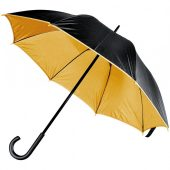 Зонт-трость Downtown, черный с золотистым