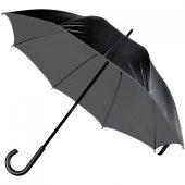 Зонт-трость Downtown, черный с серым