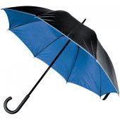 Зонт-трость Downtown, черный с синим