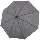Складной зонт Fiber Magic Superstrong, серый в клетку