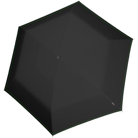 Складной зонт U.200, черный с неоновой петлей