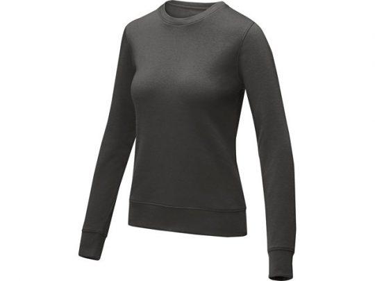 Женский свитер Zenon с круглым вырезом, storm grey (M), арт. 022891403