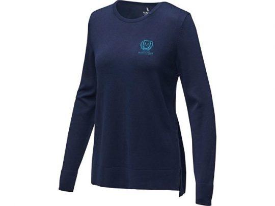 Женский пуловер Merrit с круглым вырезом, темно-синий (L), арт. 022287903
