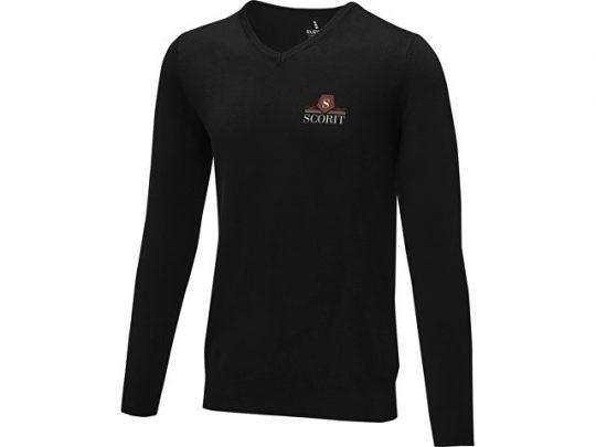 Мужской пуловер Stanton с V-образным вырезом, черный (XL), арт. 022284003