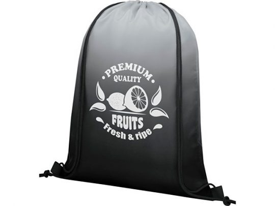 Сетчатый рюкзак Oriole со шнурком и плавным переходом цветов, черный, арт. 022870403