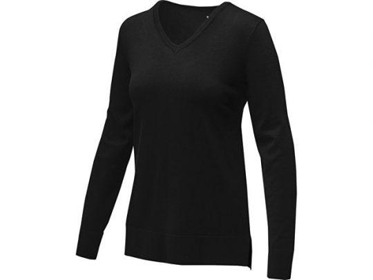 Женский пуловер с V-образным вырезом Stanton, черный (XL), арт. 022285203