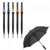 Зонт-трость Jenna, черный с оранжевым