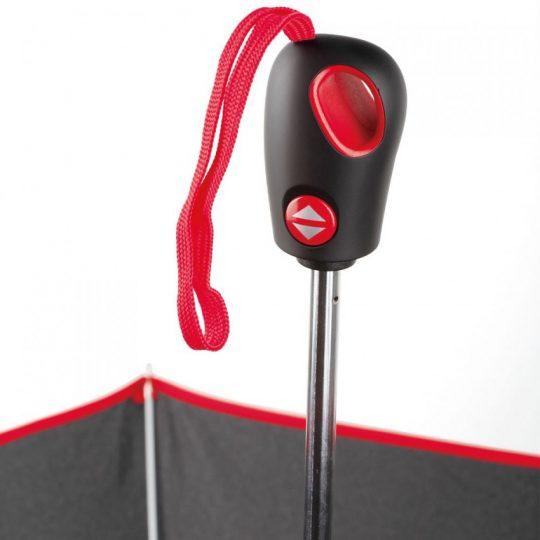 Складной зонт Drizzle, черный с красным