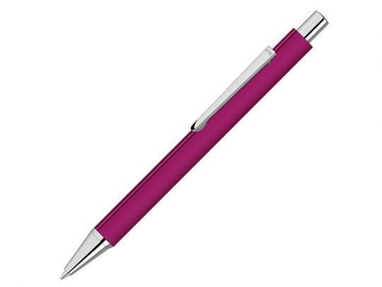 Ручка шариковая металлическая Pyra soft-touch с зеркальной гравировкой, розовый, арт. 022305403