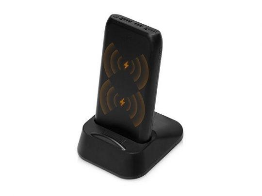 Портативное беспроводное зарядное устройство с док-станцией Uniq, 10000 mah, черный, арт. 022867203