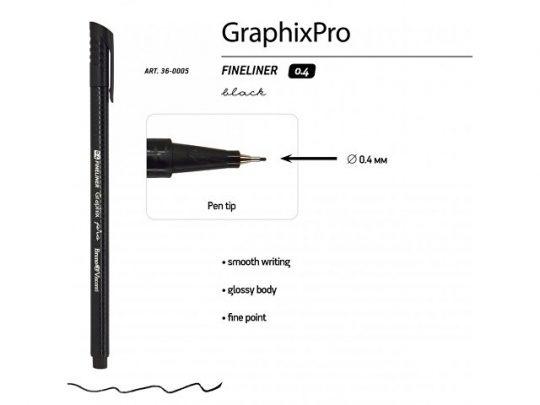 Ручкa BrunoVisconti капиллярная, 0.4 мм, черная Graphixpro FINELINER, арт. 022894803