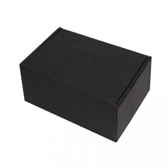 Коробка подарочная с ложементом, размер 20,5х13,5х8,5 см, картон, самосборная, черная