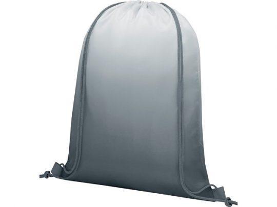 Сетчатый рюкзак Oriole со шнурком и плавным переходом цветов, серый, арт. 022870603
