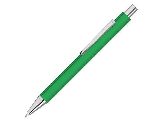 Ручка шариковая металлическая Pyra soft-touch с зеркальной гравировкой, зеленый, арт. 022306203