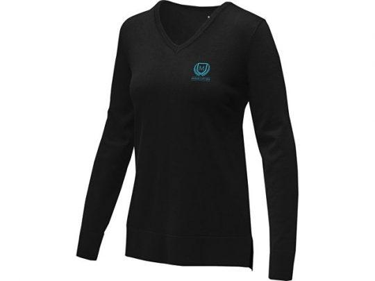 Женский пуловер с V-образным вырезом Stanton, черный (2XL), арт. 022285103