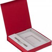 Коробка Arbor под ежедневник 13х21 см и ручку, красная