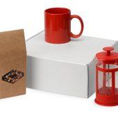 Подарочный набор с чаем, кружкой и френч-прессом Чаепитие, красный, арт. 022984303