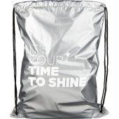 Рюкзак Be Inspired с блестящей кулиской, серебристый, арт. 022975703