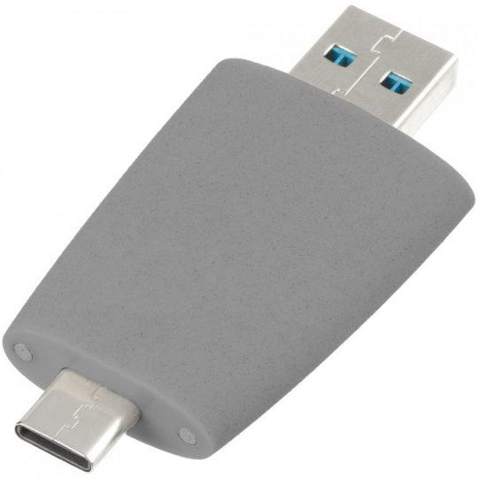 Флешка Pebble Universal, USB 3.0, серая, 64 Гб