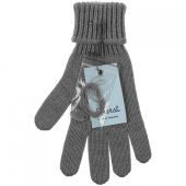 Перчатки Alpine, серый меланж, размер M