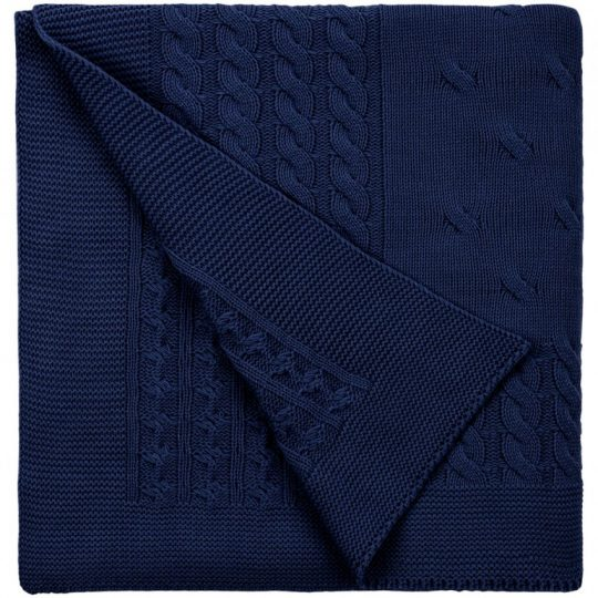 Плед Reframe, темно-синий (сапфир)
