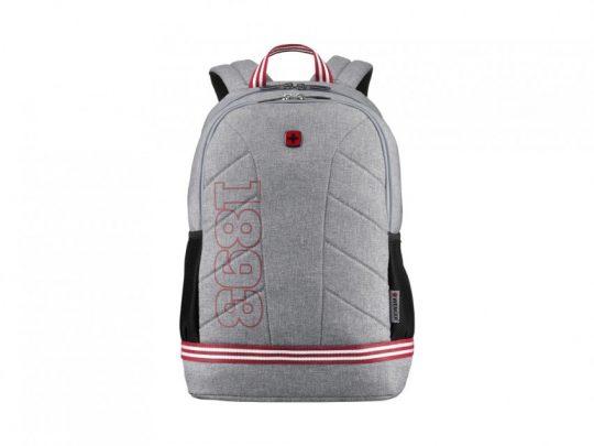 Рюкзак WENGER Collegiate Quadma 16, серый, 100% полиэстер, 33х17х43 см, 22 л, арт. 023068003