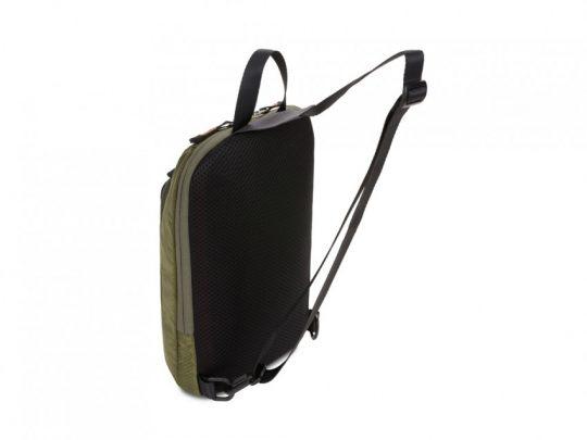 Рюкзак SWISSGEAR с одним плечевым ремнем, зеленый/оранжевый, полиэстер рип-стоп, 18 x 5 x 33 см, 4 л, арт. 023067103