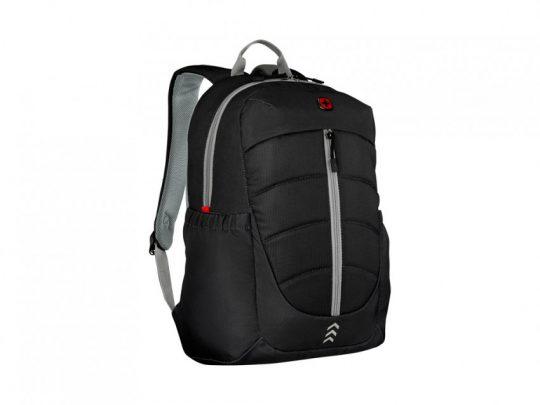 Рюкзак WENGER Engyz 16, чёрный, 100% полиэстер, 33х20х46 см, 21 л, арт. 023067803